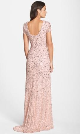 33b66d1a8a2 Pin it · Adrianna Papell Short Sleeve Sequin Mesh Gown 4