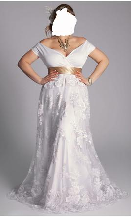 Other Eugenia Vintage Plus Size Wedding Gown, $500 Size: 16 | New  (Un-Altered) Wedding Dresses