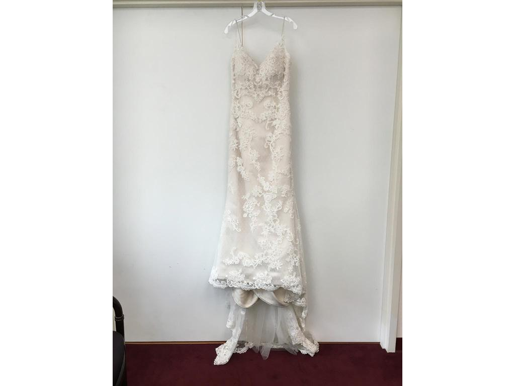 Casablanca imperial gown 900 size 12 used wedding dresses for Silver wedding dresses for sale