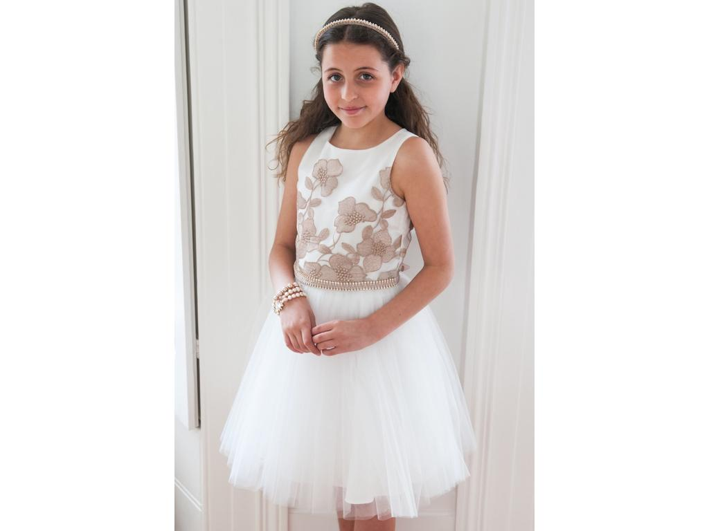688b9d814a2d Other David Charles S/l Embroidered Tulle , Size: 0   Flower Girl ...