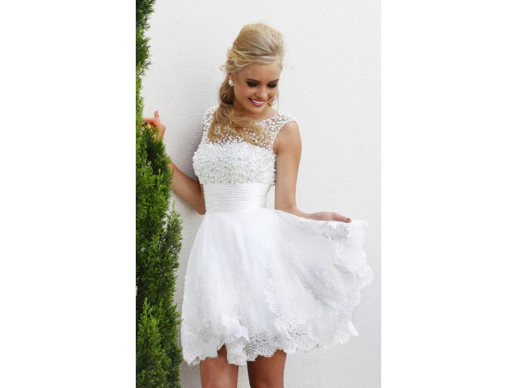 Other Ava Lace Short Wedding Dress, $95 Size: 6 | New (Un-Altered ...