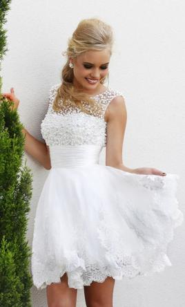 Pin It Other Ava Lace Short Wedding Dress 6