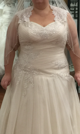 Stella york 5878 1 100 size 24 new un altered for Size 24 dresses for wedding