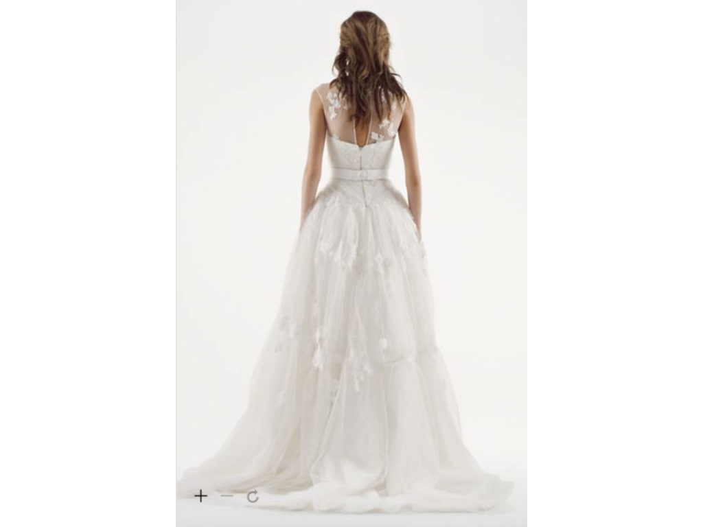 Vera Wang White Illusion Neckline Wedding Dress Buy This Dress For A