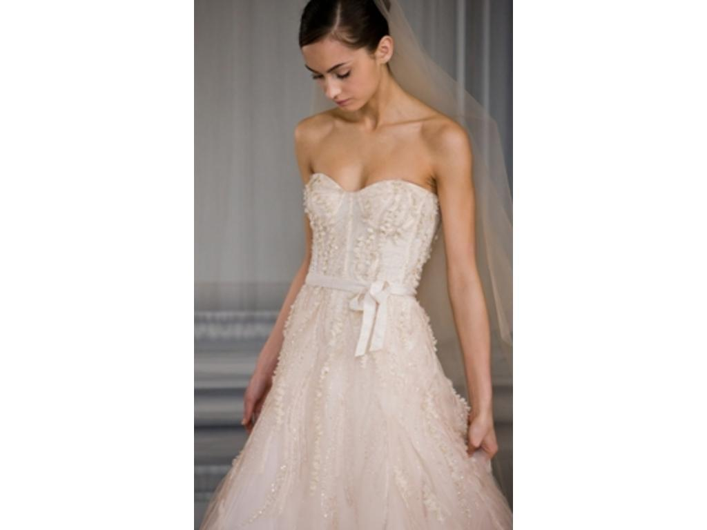 Monique lhuillier candy 3 850 size 8 used wedding dresses for Buy monique lhuillier wedding dress