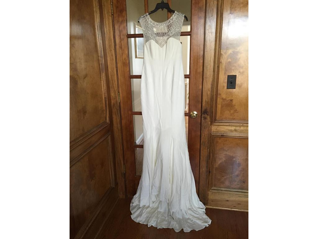 Nicole miller lq10000 1 300 size 4 new un altered for Nicole wedding dress prices