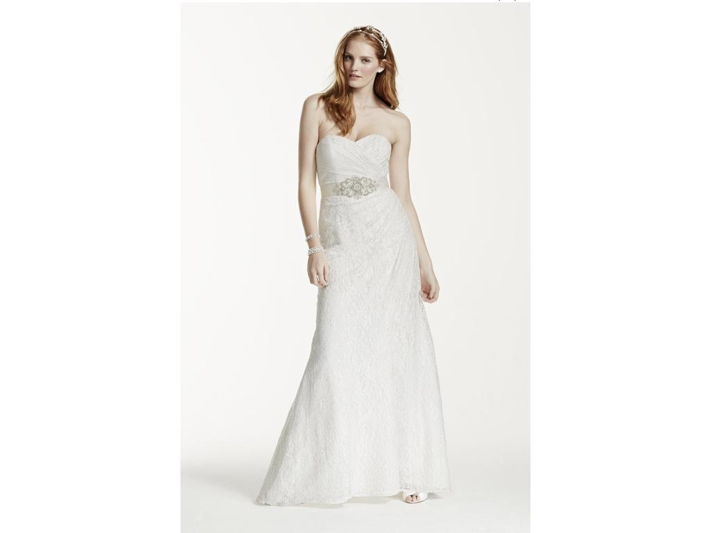 David 39 s bridal wg3263 350 size 6 used wedding dresses for Davidsbridal com wedding dresses