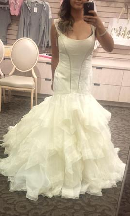 Zac posen truly mermaid wedding dress lace skirt lace cap for Zac posen wedding dresses sale