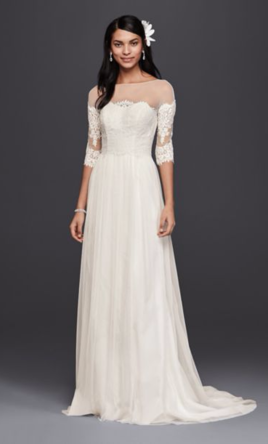 Galina swg561 300 size 2 new un altered wedding dresses for Wedding dress with buttons all the way down