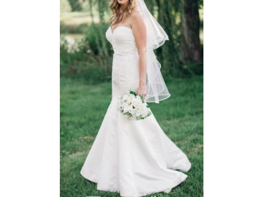 Allure bridals 9221 ivory 1 200 size 10 used wedding for Pre owned wedding dresses