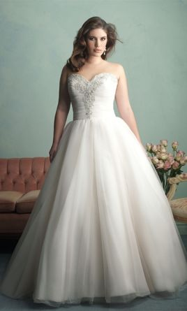 Allure Bridals Ball Gown W341 Ivory 2015 897904