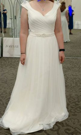 David's Bridal WG3787, $150 Size: 12 | New (Un Altered) Wedding