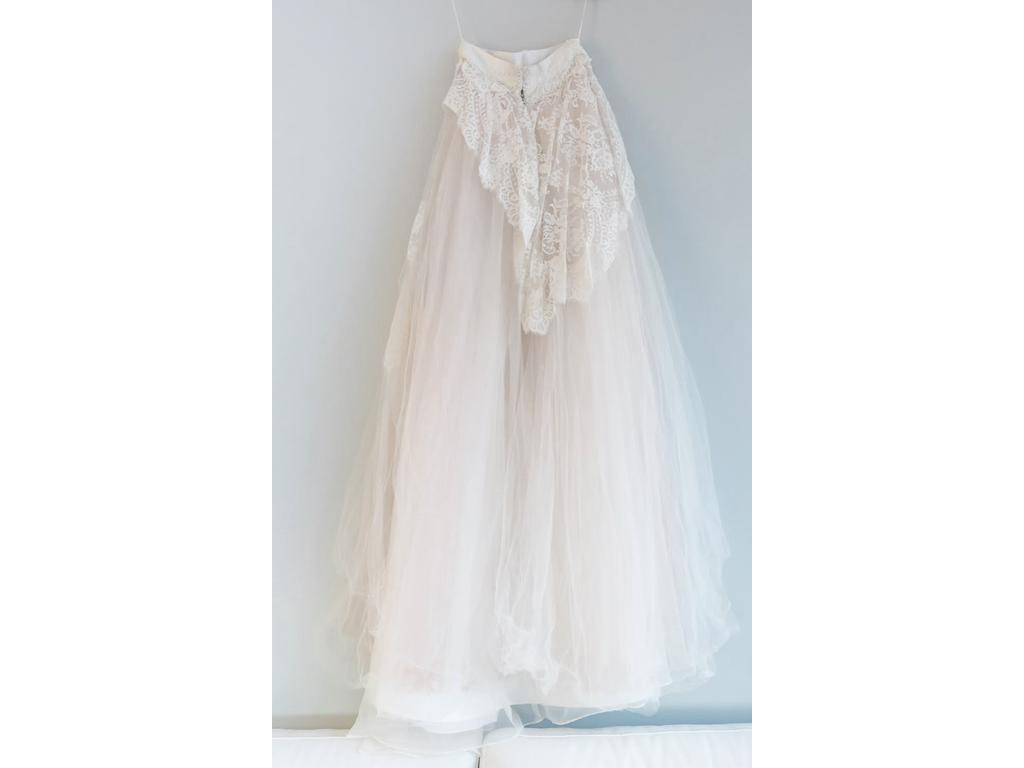 private label custom made wedding/rehearsal dress with 2 skirts