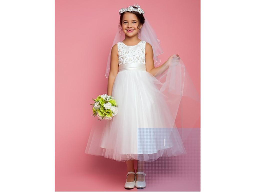 Other Lanting Bride A-Line Tea-Length Flower Girl Dress, Size: 0 ...
