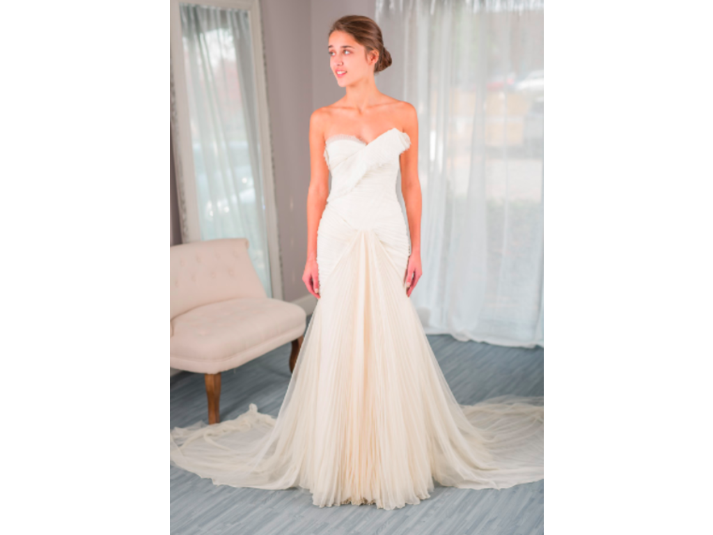 Vera wang hayden for rent or sale 1 220 size 0 used for Cost to rent wedding dress in jamaica