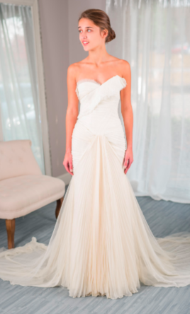 Vera wang hayden for rent or sale 1 220 size 0 used for Vera wang wedding dresses rent