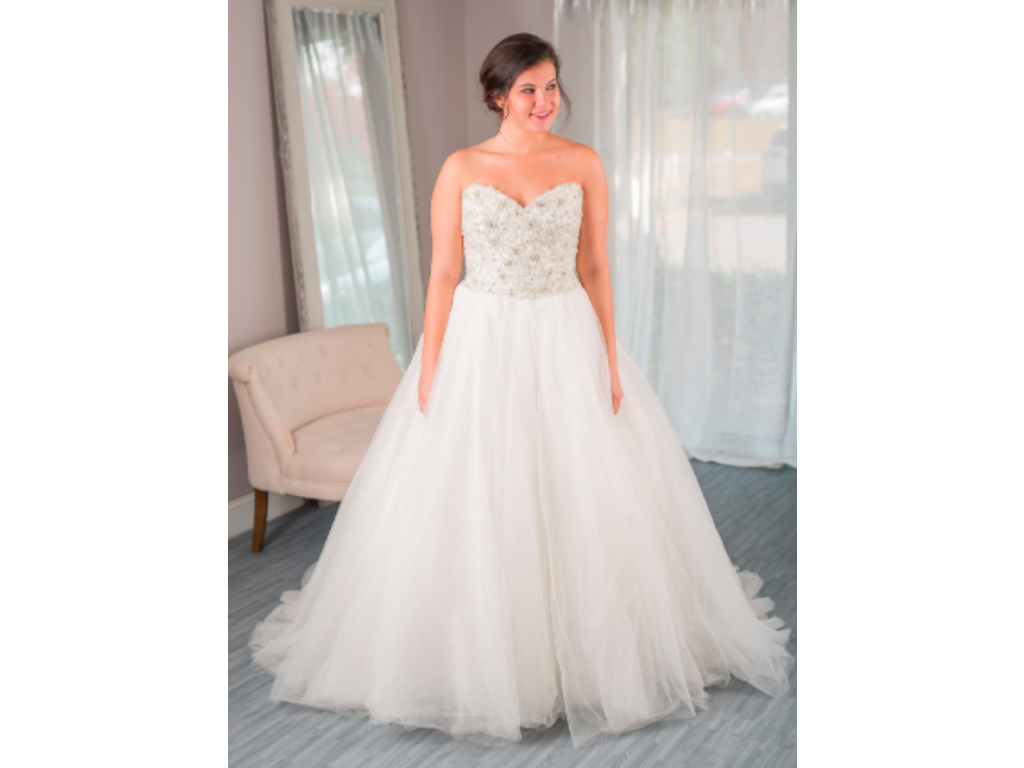 David tutera luca to rent or buy 600 size 14 used for Cost to rent wedding dress in jamaica