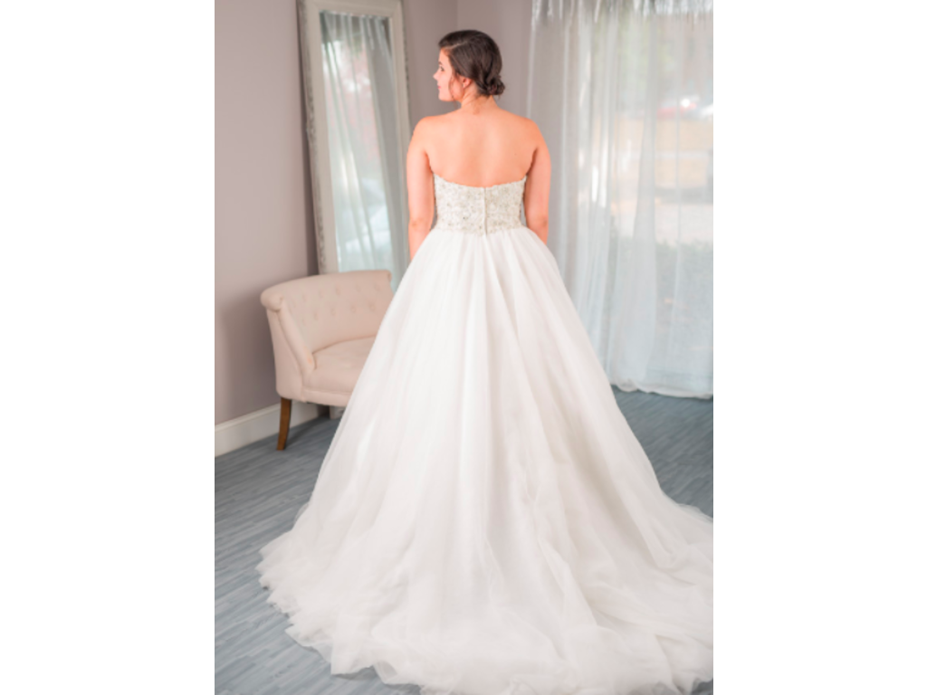 David tutera luca to rent or buy 600 size 14 used for Rent for wedding dress