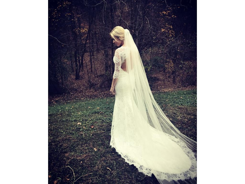French Lace Wedding Gown: Other Custom Keyhole Back Dress With Corded French Lace