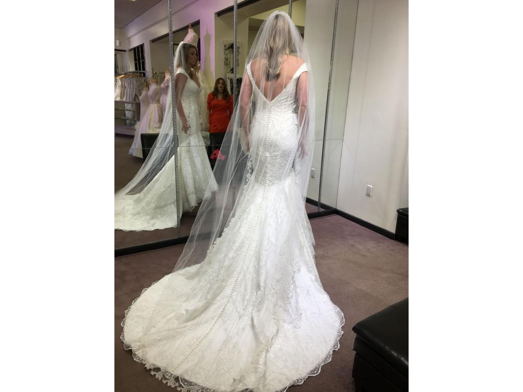 Matthew christopher monroe 3 700 size 12 new un for Matthew christopher wedding dress prices