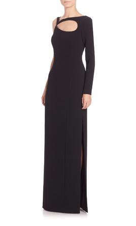 Other Escada Women's Black One-Shoulder Cutout Gown 12