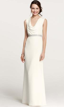 Cowl Neck Wedding Dress Fashion Dresses