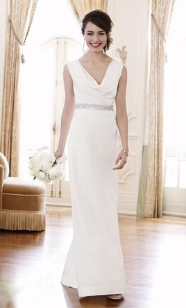 Pin It Ann Taylor Mya Cowl Neck Wedding Gown 00