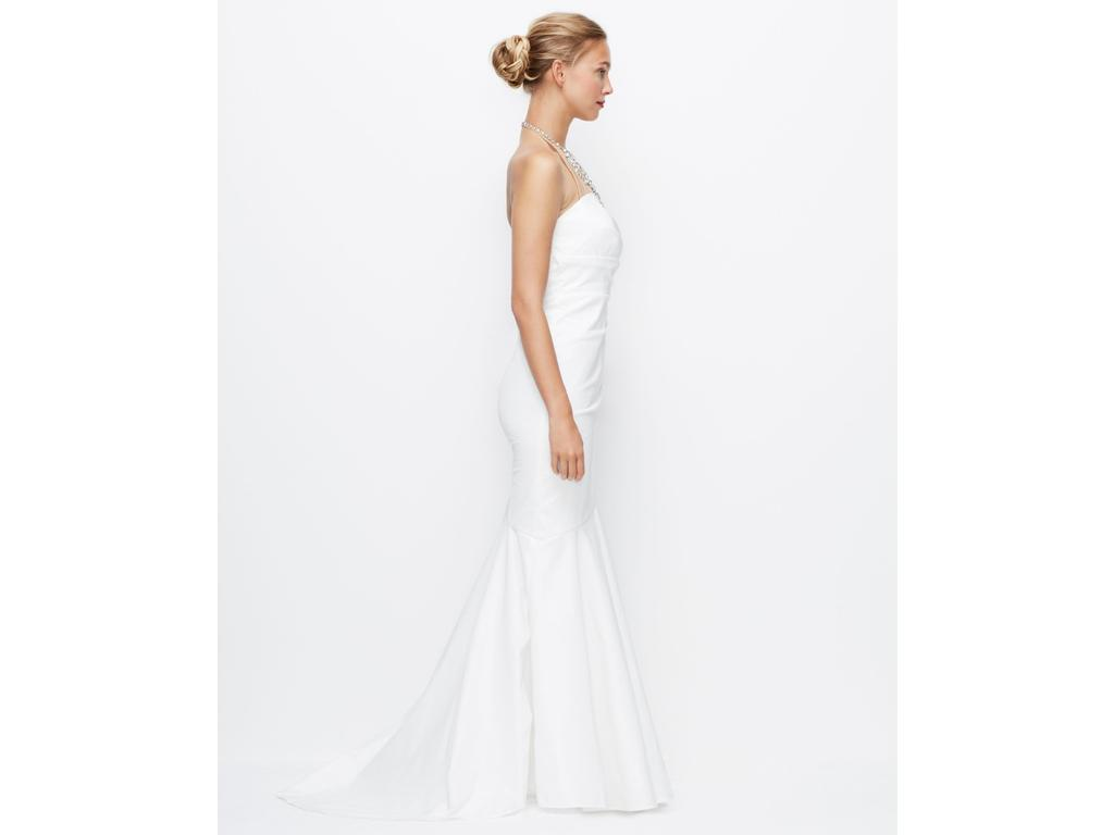 Ann Taylor Wedding Gowns: Ann Taylor JEWELED HALTER MERMAID RUCHED WEDDING GOWN
