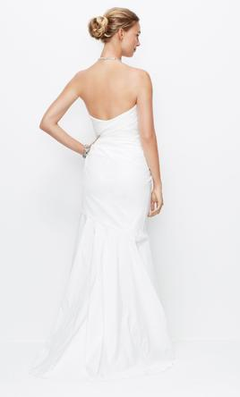 Ann Taylor JEWELED HALTER MERMAID RUCHED WEDDING GOWN, $225 Size ...