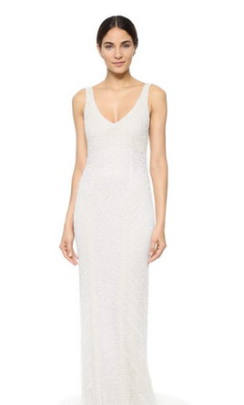 Theia Caitlin Sequin Deco Gown 4