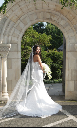Pnina Tornai Custom made with French lace and American bustle