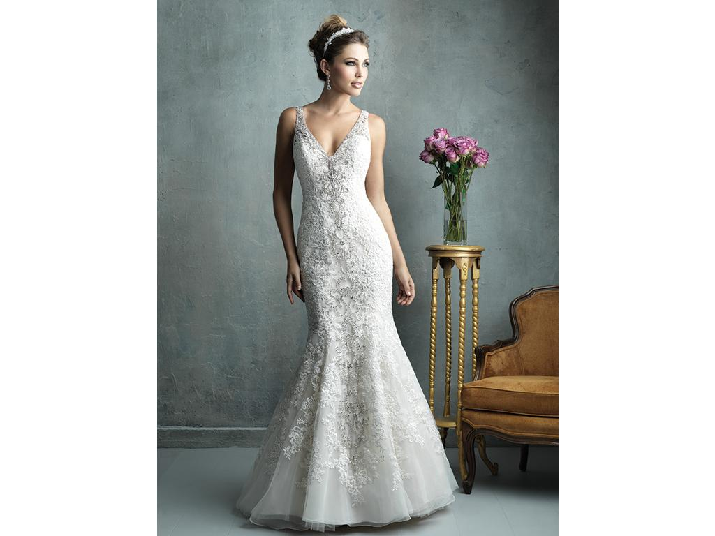 Allure bridals 1 160 size 10 used wedding dresses for Silver wedding dresses for sale