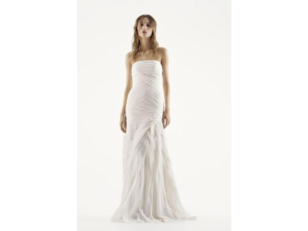 Vera wang white vw351146 450 size 12 new un altered for Vera wang wedding dress for sale