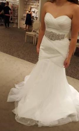 David\'s Bridal Petite Strapless Mermaid Tulle Dress 7WG3791, $369 ...
