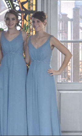 Alfred angelo 7366 long size 2 bridesmaid dresses for Once owned wedding dresses