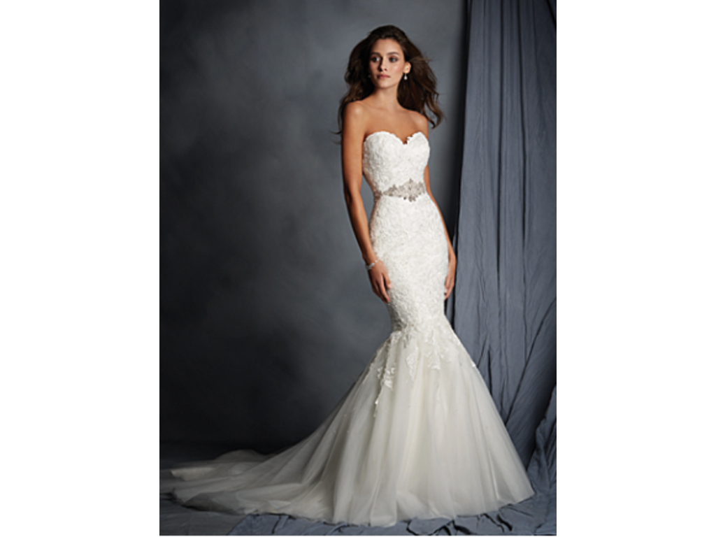 Alfred Angelo Cascading Lace Designer Wedding Gown Style 2526, $450 ...
