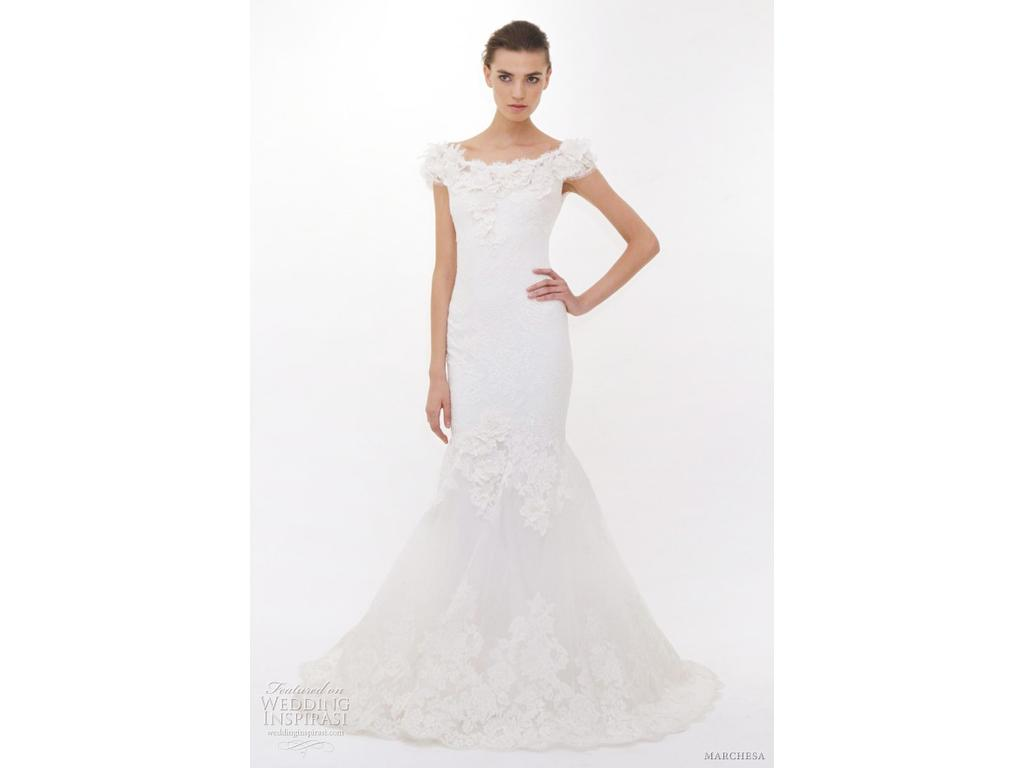 Marchesa 4 985 size 8 used wedding dresses for Marchesa wedding dress sale