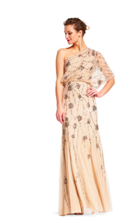 1f1960d2cc8 Pin it · Adrianna Papell One Shoulder Beaded Gown   09186032 4