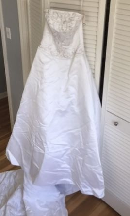 Davids Bridal Satin Dress