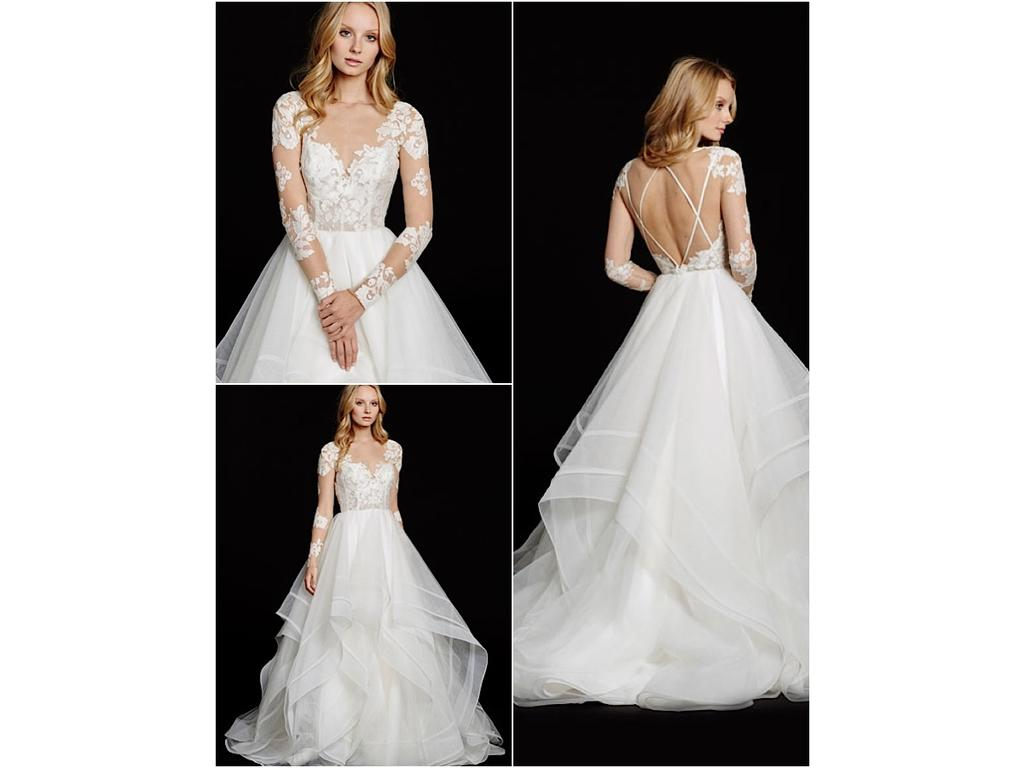 Hayley paige elysia 2 990 size 4 new un altered for Hayley paige wedding dress prices