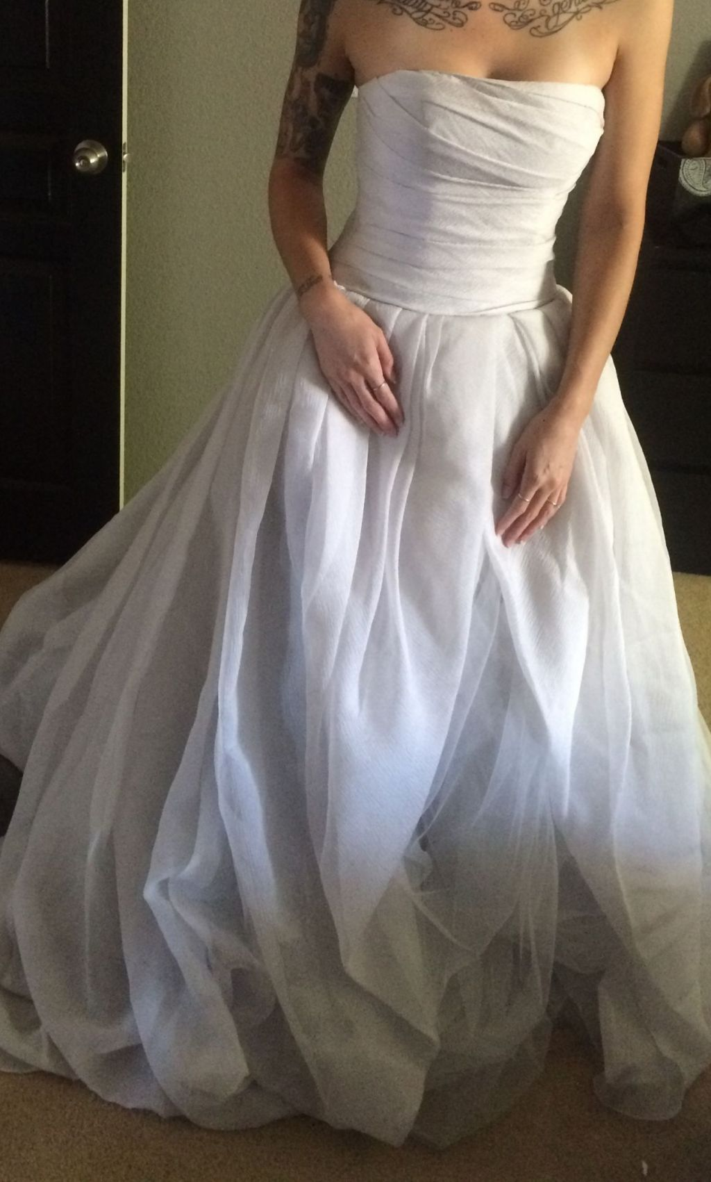 4413dad9f9c3 Vera Wang White VW351178, $495 Size: 4 | New (Un-Altered) Wedding ...