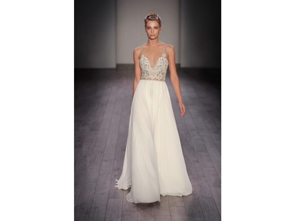 Hayley paige theresa 6609 3 000 size 6 used wedding for Hayley paige wedding dress prices