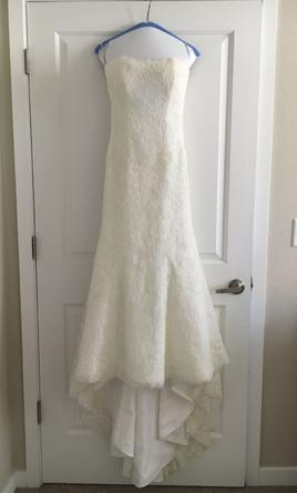 Monique Lhuillier Strapless Lace Wedding Dress with Beaded Waist 2