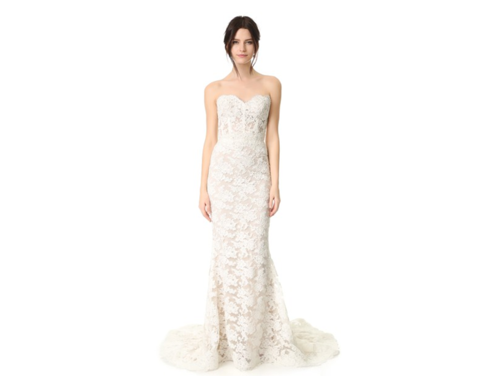Reem acra angelica 5 500 size 8 new un altered for Pre used wedding dresses