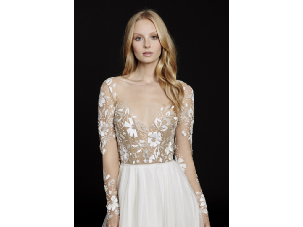 Hayley paige 6553 3 000 size 10 used wedding dresses for Hayley paige wedding dress prices
