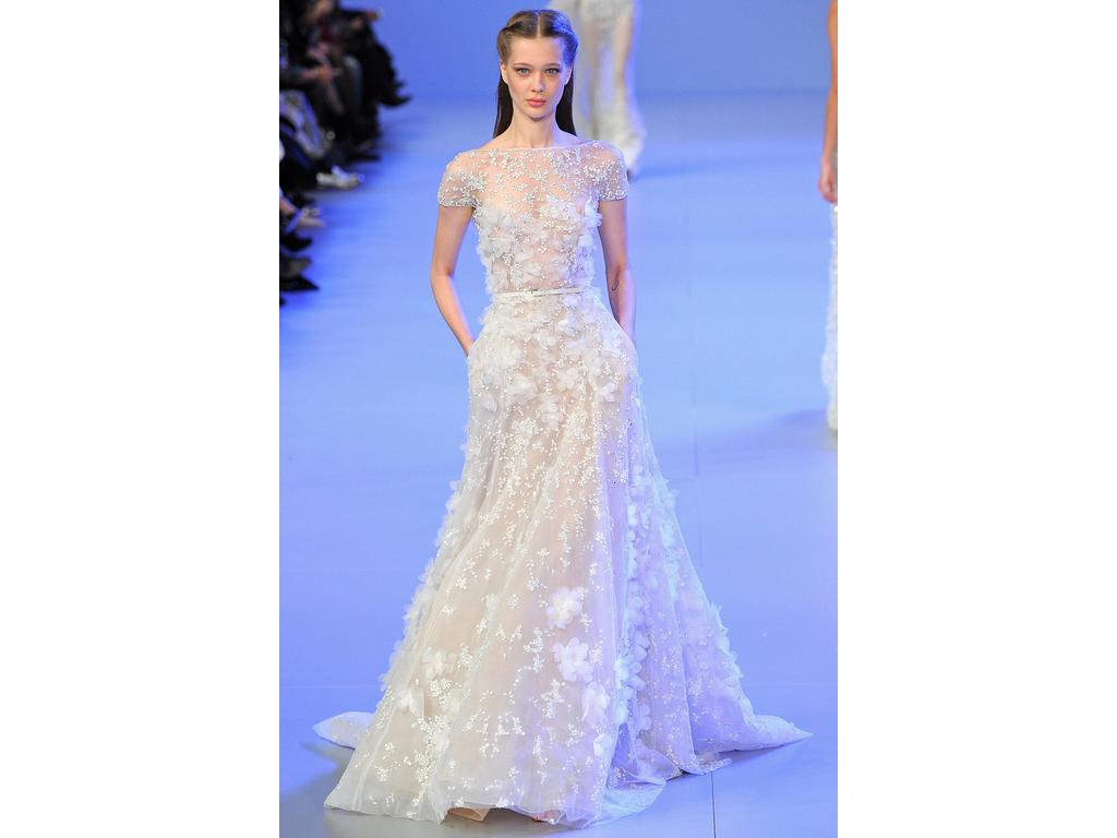 Inspired gowns elie saab 1 500 size 2 used wedding for Elie saab wedding dress for sale