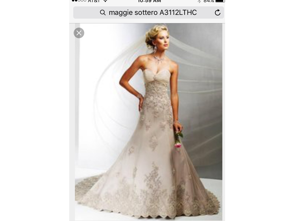 Maggie sottero a3112lthc 950 size 12 used wedding dresses for Best place to buy used wedding dresses