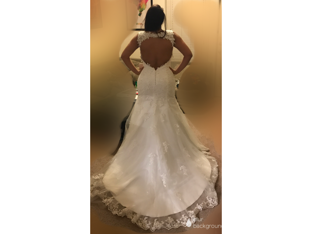 Other amanda noivas 300 size 16 new un altered for Previously worn wedding dresses for sale