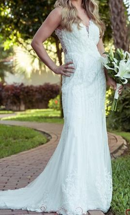 Jacquelin Exclusive 29 Shaina 575 Size 6 Used Wedding