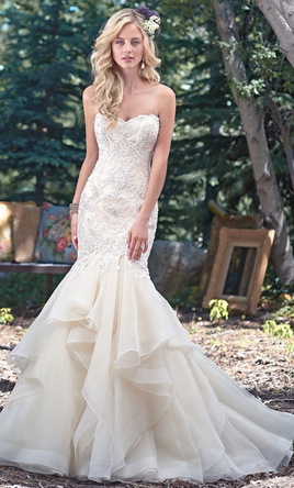 4ee566b3f9ff Maggie Sottero MALINA Wedding Dress | New (Un-Altered), Size: 6, $1,100